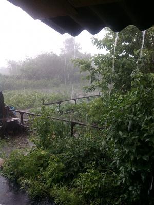 дождь из ведра
