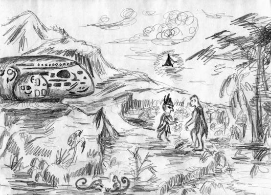 Поселение пришельцев. Плато Наска