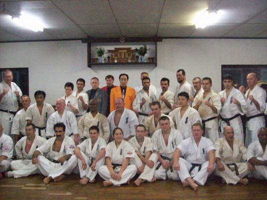 После Дан теста в Японии г. Исесаки.