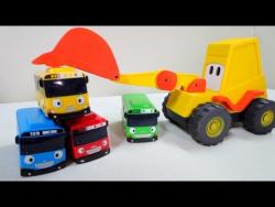 Развивающее видео для детей. Маша, Мася и  Автобусы Тайо играют в прятки. Игры для детей.