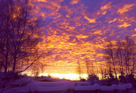 Восход зимнего солнца